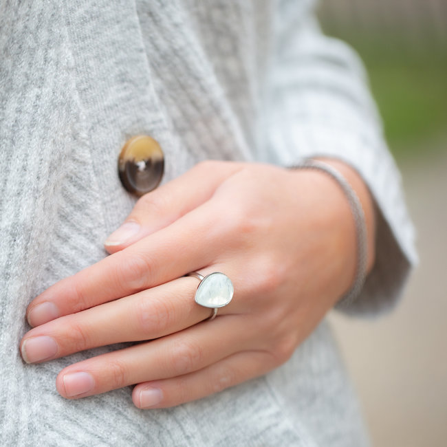 IXXXI Losse ixxxi ring grote witte druppel