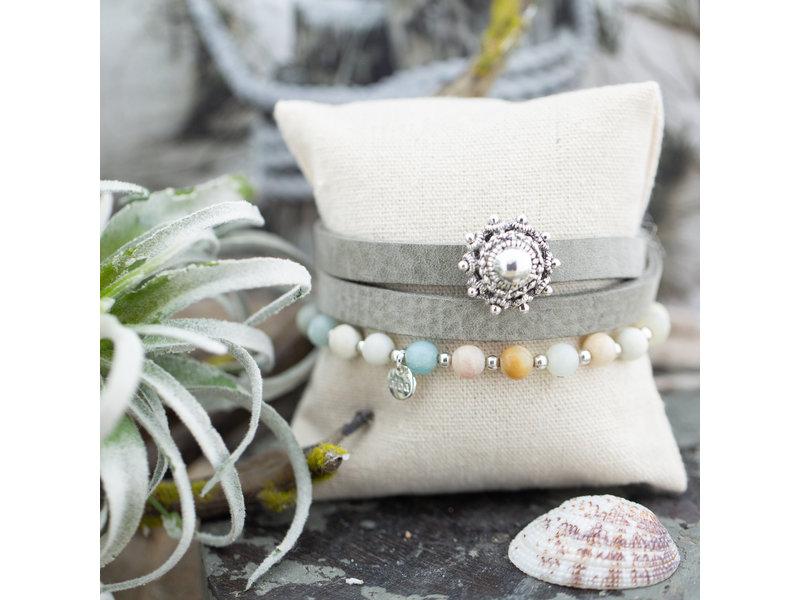Zeeuws Grijze zeeuwse knop armband set