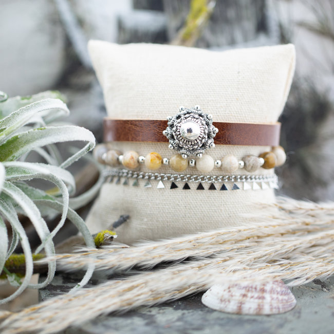 Zeeuws Cognac zeeuwse knop armband set