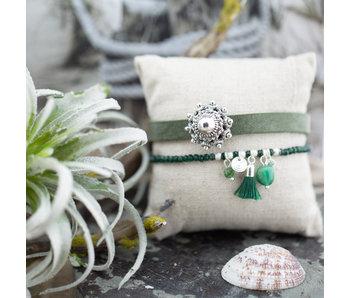 Zeeuws Groene zeeuwse knop armband set
