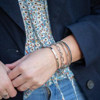 KalliKalli Zilver armbanden bangle cartier of tijgerprint
