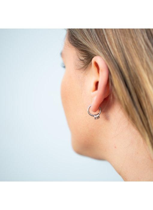 Go Dutch Label Zilver oorbellen ringen
