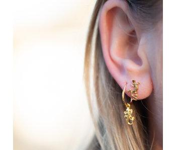 KARMA Salamander oorringen of oorstekers goud