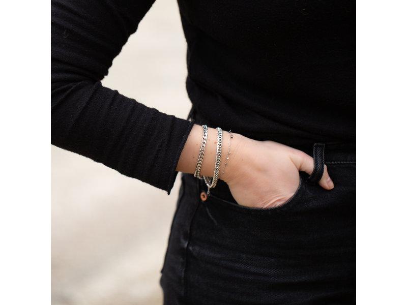 Biba metalen armband zilver