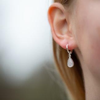 Biba Sparkling oorbellen zilver