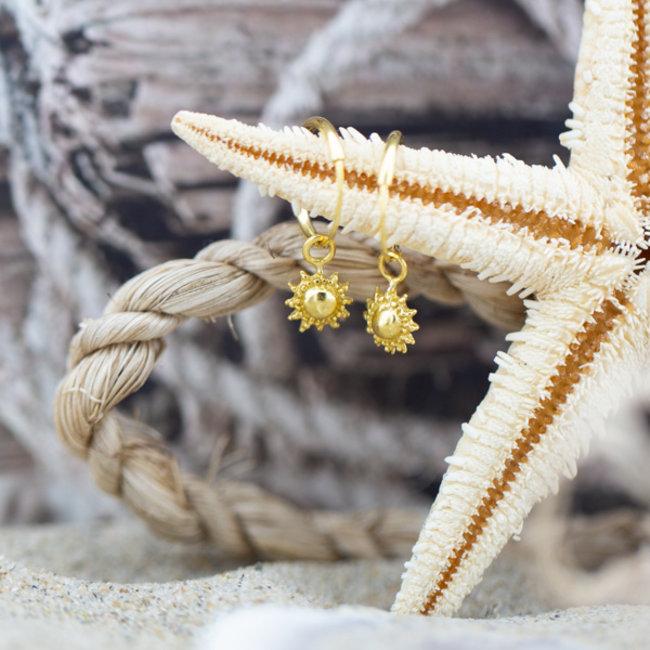 KARMA Hoops Symbols Sun Goldplated