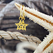 KARMA Hoops Symbols Open Star Gold 925