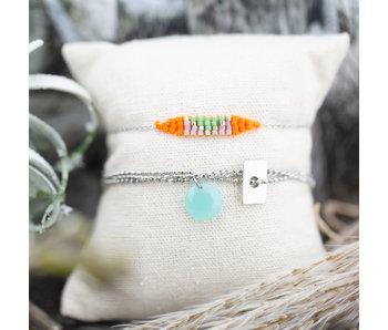 ZAG  Bijoux Armbanden zilver turquoise en oranje
