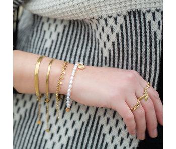 Beadle Gouden stalen armbanden