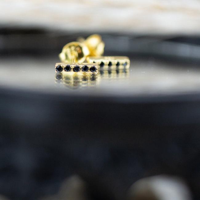 KARMA Black Zirconia Symbols Tube Goldplated