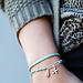 Biba Zomerse turquoise armbanden met schelp