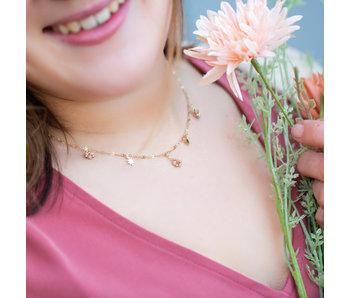 Go Dutch Label Goud ketting nude roze