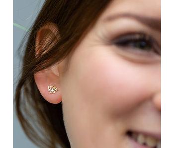 Go Dutch Label Goud oorbellen lotus