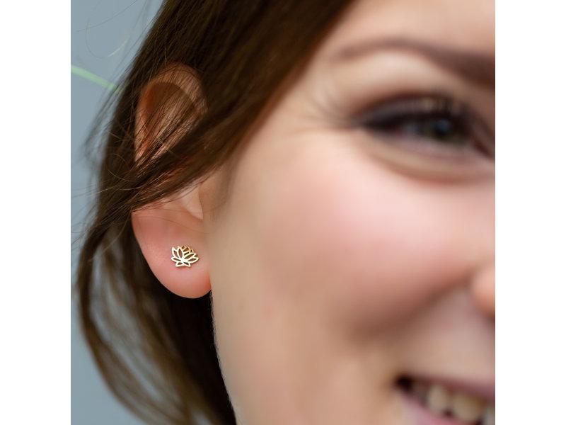 Go Dutch Label Goud oorbellen lotusbloem