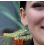 Biba Creool oorbellen met witte parel