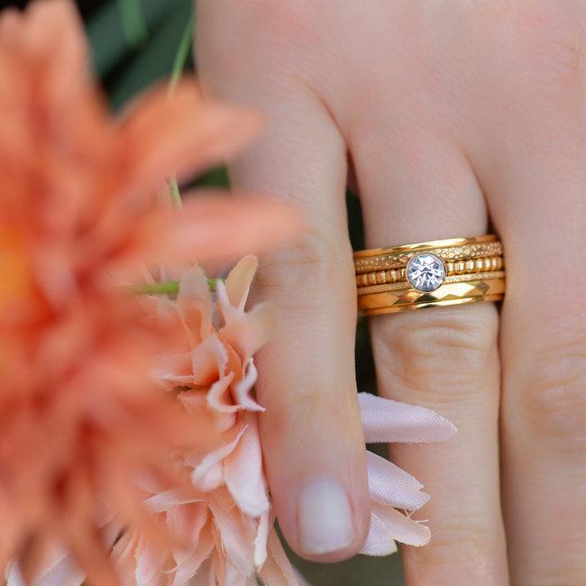 IXXXI Complete IXXXI ring goud met steentje