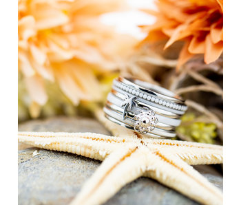 IXXXI Complete ixxxi ring zilver zeeuwse knop en palmboom