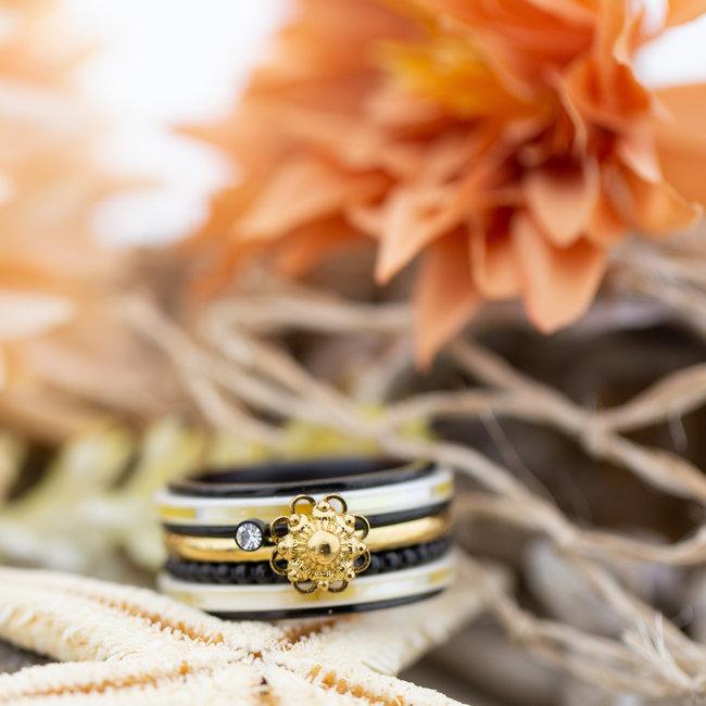 IXXXI Complete ixxxi ring goud zeeuwse knop met schelp yellow
