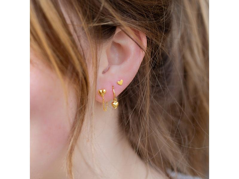 KARMA Goud oorbellen met hartjes