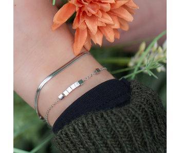 ZAG  Bijoux Zag bijoux zilver platte schakelarmband