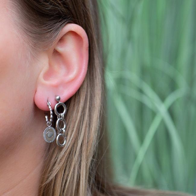 Go Dutch Label Zilver oorbellen met hartje of rondjes