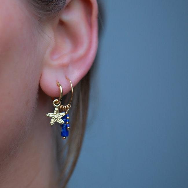 Biba Zeester of zeeblauwe oorbellen