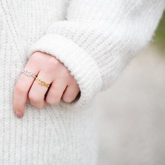 Beadle Schakelring met verbonden ringen