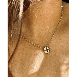ZAG  Bijoux ketting goud met kompas