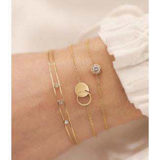 ZAG  Bijoux armband goud met twee cirkels