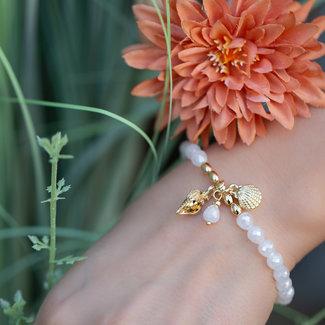 Biba Witte schelp armband