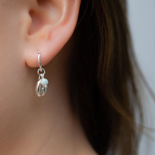 Biba Zilveren oorbellen met schelp
