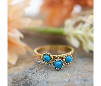 IXXXI Inspired Turquoise goud