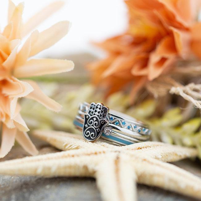 IXXXI Complete zilver ring fatimahand
