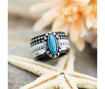IXXXI Complete ring Blauw wit boho