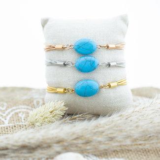 IXXXI Armband met turquoise steen