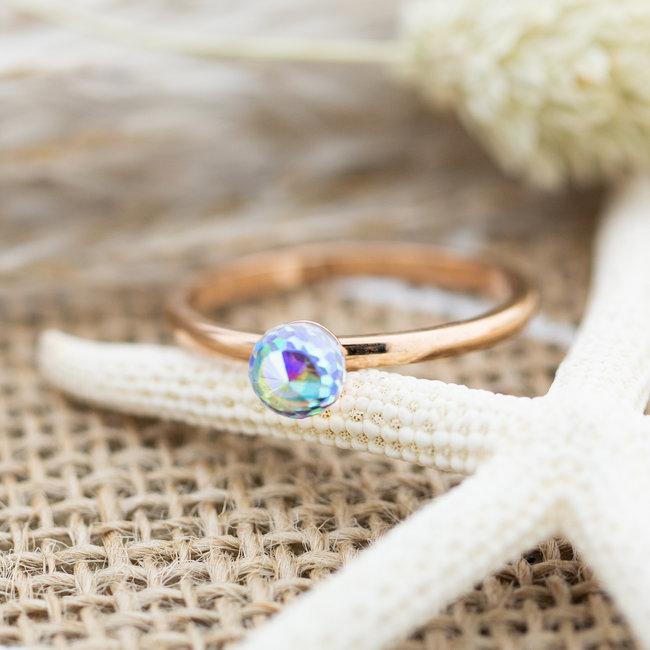 IXXXI Crystal Glass Ball AB rosegoud