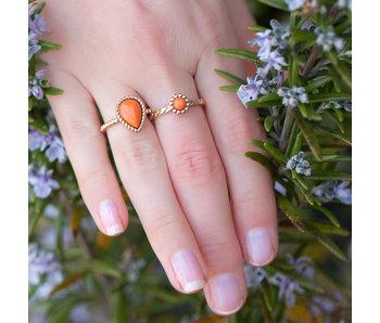 IXXXI Losse boho koraal rose goud ring