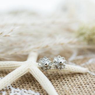 IXXXI Zeeuwse knop oorbellen zilver