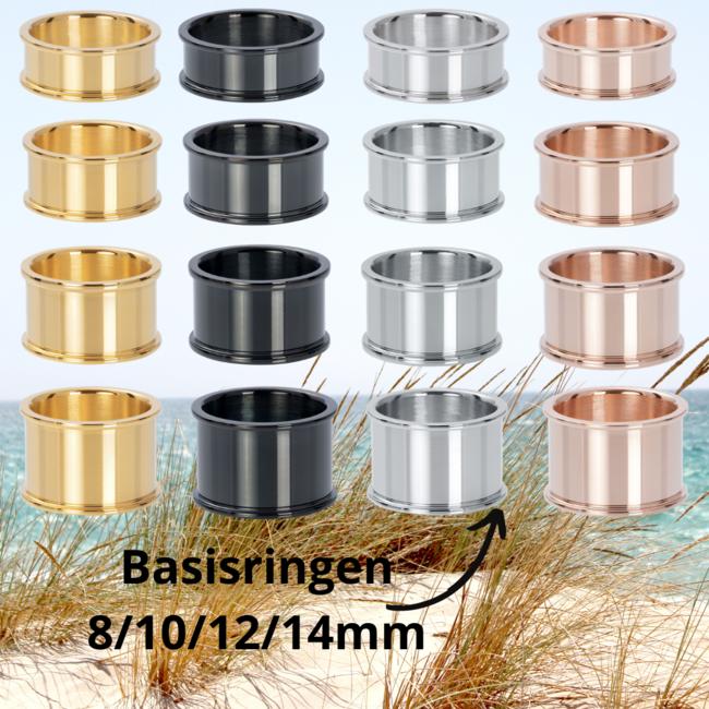 IXXXI Basisring zilver, goud, rosegoud of zwart