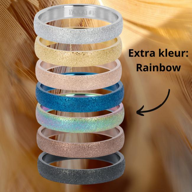 IXXXI aanschuif ring goud sandblasted 4mm