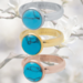 IXXXI aanschuif ring  'blue turqoise stone' 4mm