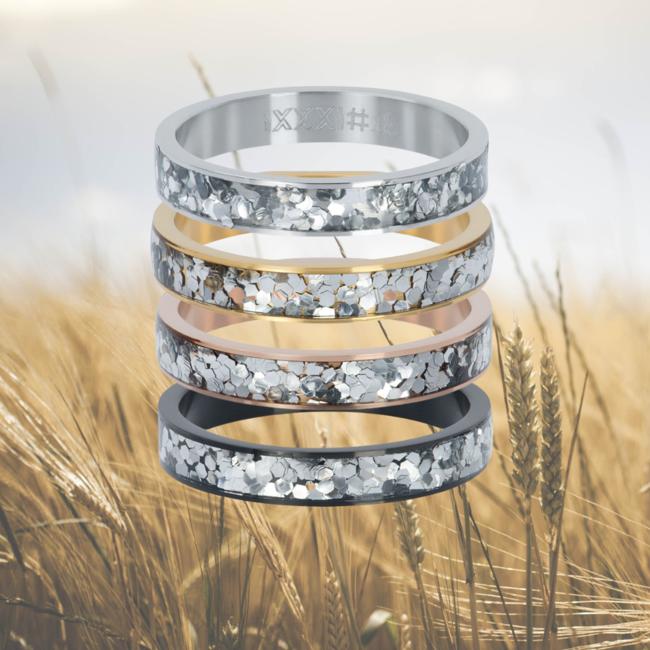 IXXXI Vulring glitter confetti 4mm zilver, goud of rosegoud