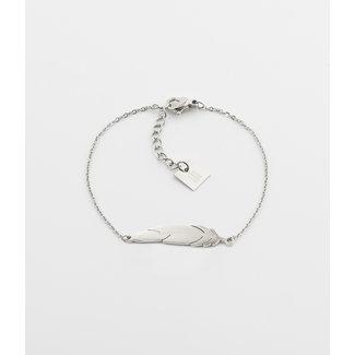 ZAG  Bijoux armband zilver veer