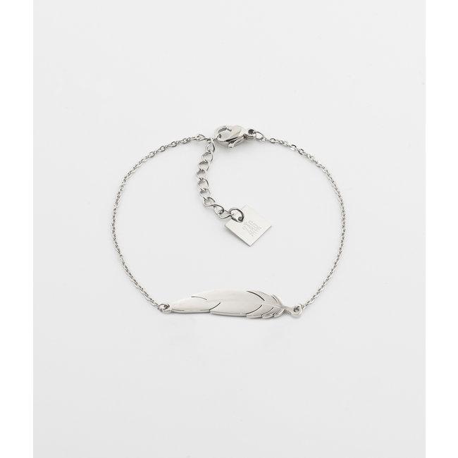 ZAG  Bijoux ZAG Bijoux armband zilver veer