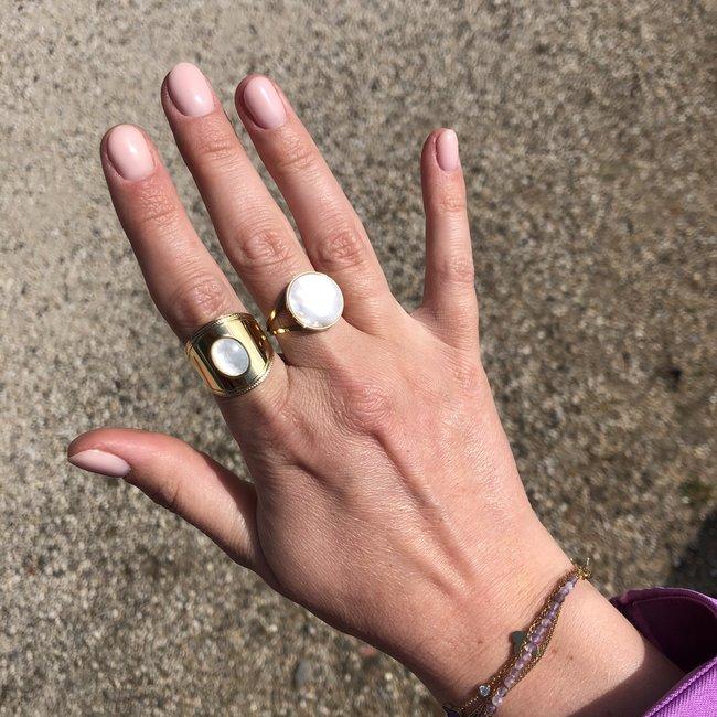 ZAG  Bijoux Gouden ringen met witte steen