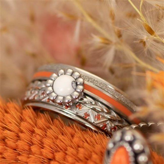 IXXXI Complete ring flower coral