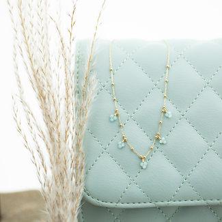 ZAG  Bijoux Ketting goud trosjes  turquoise