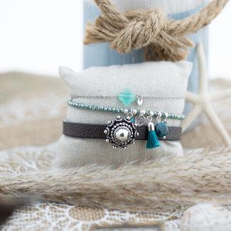 Zeeuws Zeeuwse knop armbanden set turquoise