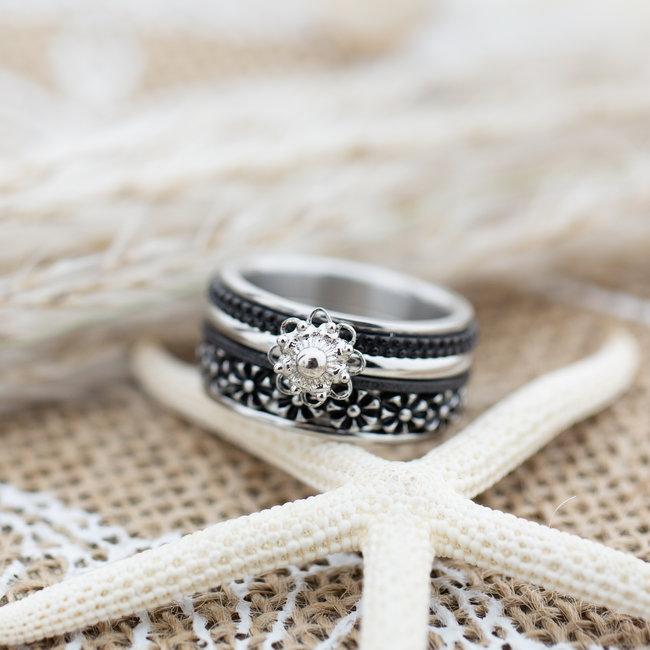 IXXXI Complete ixxxi ring zilver zeeuwse knop flowers
