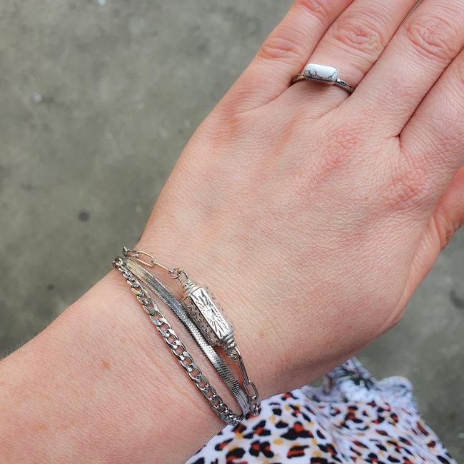 Beadle Armband Maan Sterren Hanger Zilver